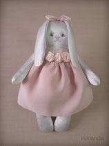 Зайка, игрушка в винтажном стиле, рост 12 см.