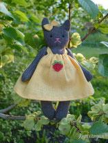Кошка, игрушка из натуральных материалов, 12 см.