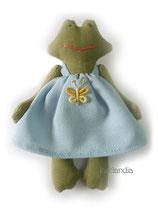 Лягушка, рост 12 см. Цена одной игрушки: 350 руб. Цена комплекта из пяти мини-игрушек: 1650 руб.