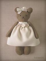 Мишка, игрушка в винтажном стиле, рост 12 см.