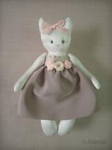 Кошка, игрушка в винтажном стиле, рост 12 см.