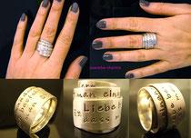 Poetry-Ring (Silber 925) mit Ihrem Lieblingsspruch