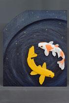 Sternzeichen Fische, Lindenholz, 60 x 80 cm
