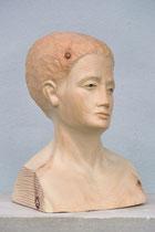 weibliche Büste, Zirbe, Höhe: 34 cm