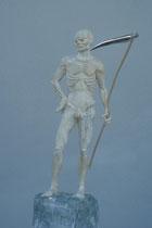 Gevatter, Zirbe, gekalkt, Höhe: 58 cm