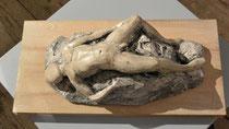 liegender Akt, Terrakotta, Körpergröße: 30 cm