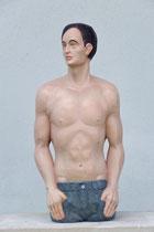 mänliches Halbbild, Zirbe, Höhe: 60 cm
