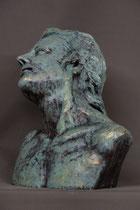 Sterbender Alexander, Terracotta, bronziert, lebensgroß (nach antikem Vorbild)