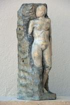 """weiblicher Akt """"Ausbruch"""", Zirbe, Höhe: 57 cm"""