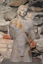 männlicher Akt, Zirbe, Höhe: 60 cm
