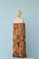 Büste, Zirbe auf Fichtensockel, Höhe: 90 cm