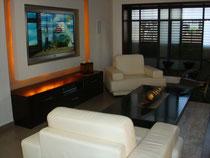 Salon avec eclairage intelligent