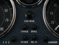 EUNOS ロードスター NA用 ビンテージメーターパネル (ネイビー) TYPE-03