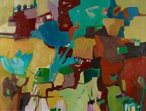 Unterwegs - Öl auf Leinwand - 100 x 130 cm