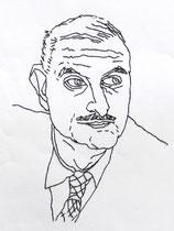 Tyrone Guthry, Irland 2015, Stickerei auf Papier, ca. 40 x 30 cm