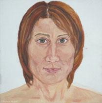 Kerstin 2008, 65 x 65 cm, Öl auf Leinwand