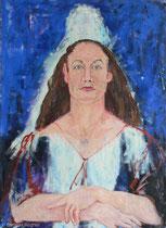 Karin Welponer 1989, 110 x 80 cm, Öl auf Leinwand,