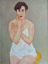 Inez 1992, 130 x 100 cm, Öl auf Leinwand