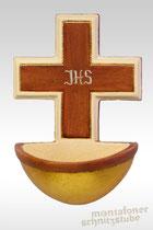 Weihwasserkessel schlicht mit IHS Monogramm