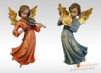 Engel schwebend mit Geige und Horn