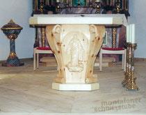 Volksaltar in der Pfarrkirche Partenen