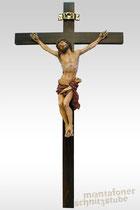 Christus, gefasst, patiniert