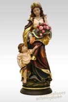 Heilige Elisabeth mit Jungen, gefasst
