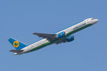 FRA 27.09.2014; UK75701 Uzbekistan Airways Boeing 757-23P