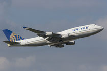 FRA 27.09.2014; N117UA United Airlines Boeing 747-422