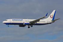 FRA 17.2.2014; VP-BEZ; Orenair Boeing 737-86J; ex-Air Berlin D-ABBC