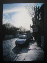 """Putland Road"" Gouache on blackboard 40x50cm"