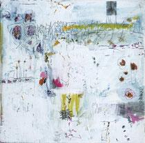 Frühlingswimmelbild I - Acryl auf Leinwand - 30 x 30 cm - 2016 -verkauft-