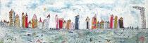 Es war einer dieser Tage ... - Acryl/Collage-Mischtechnik auf Leinwand - 100 x 20cm - 2016 -verkauft-