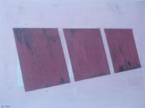 """""""Drei Eisenplatten angelehnt"""" Acryl auf LW in 70x50  """"The steelplates"""" 27,5x19,7  >>>SOLD"""