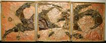 Triptychon METALLICON, je 118 x 140 cm *