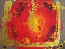 Feuerwelt A . 80 x 60 cm