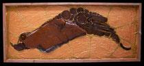 """METALLICON FOSSIL """"Oktopus"""" . 140 x 60 cm *"""