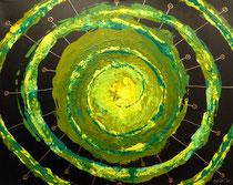 Geburt von Exoplaneten aus der Grünen Galaxy . 100 x 80 cm *