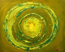 Grüne Galaxy . 100 x 80 cm