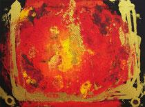 Feuerwelt B . 80 x 60 cm