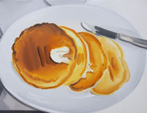 PANCAKE oil on canvas  33.3×24.2cm  2017