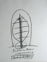 Trenntrauma, 2000, Kohle auf Bütten