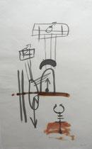 Trenntrauma, 2000, Tusche auf Bütten