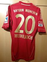 12/13 Bundesliga home Spielertrikot von Patrick Weihrauch hinten