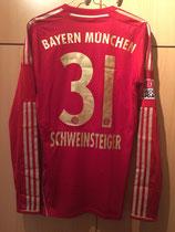 12/13 Bundesliga home Spielertrikot GEH DEINEN WEG von Bastian Schweinsteiger hinten