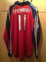 99/00 Champions League home Spielertrikot von Stefan Effenberg hinten