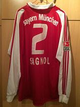 04/05 Bundesliga home Spielertrikot von Willy Sagnol hinten