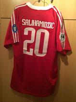 01/02 UEFA Supercup Spielertrikot gegen FC Liverpool von Hasan Salihamidizic hinten