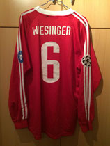 00/01 Champions League Spielertrikot von Michael Wiesinger hinten