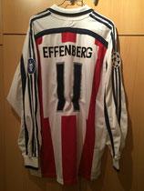 01/02 Champions League away Spielertrikot von Stefan Effenberg hinten